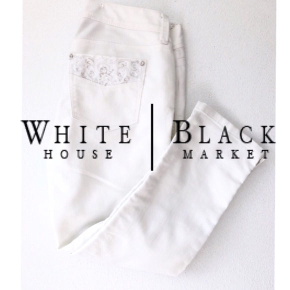 White House Black Market Denim - WHITE HOUSE BLACK MARKET NOIR SLIM CROP JEANS